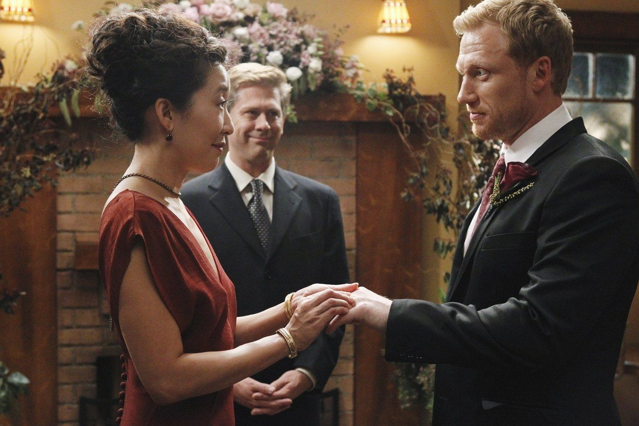 Cristina and Owen get married on Grey's Anatomy