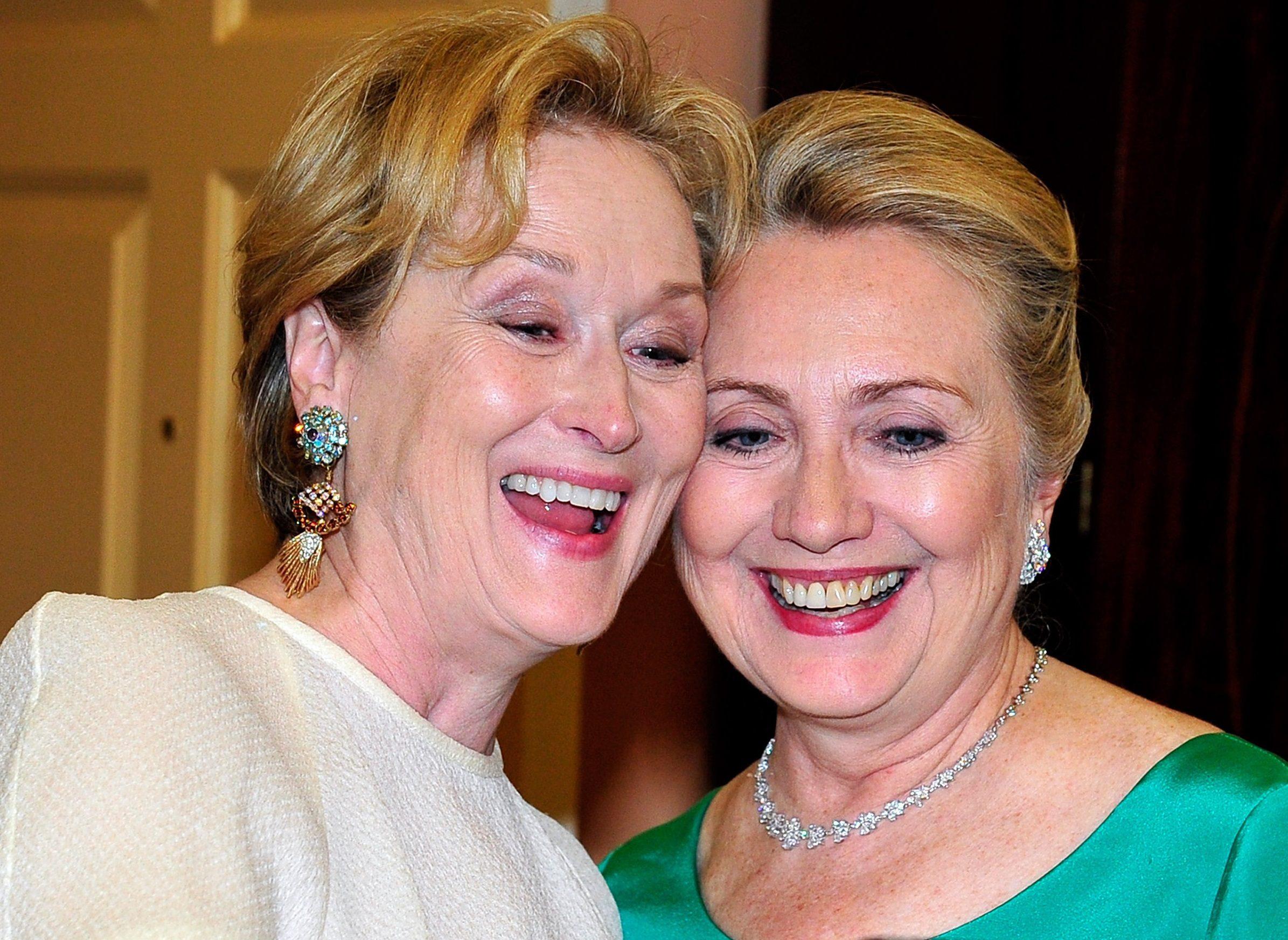 Meryl Streep and Hillary Clinton