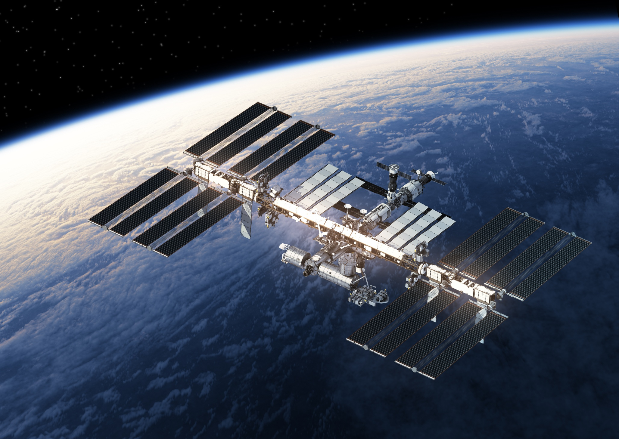 International Space Station orbiting Earth