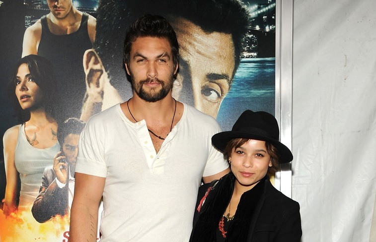 Jason Momoa and Zoe Kravitz
