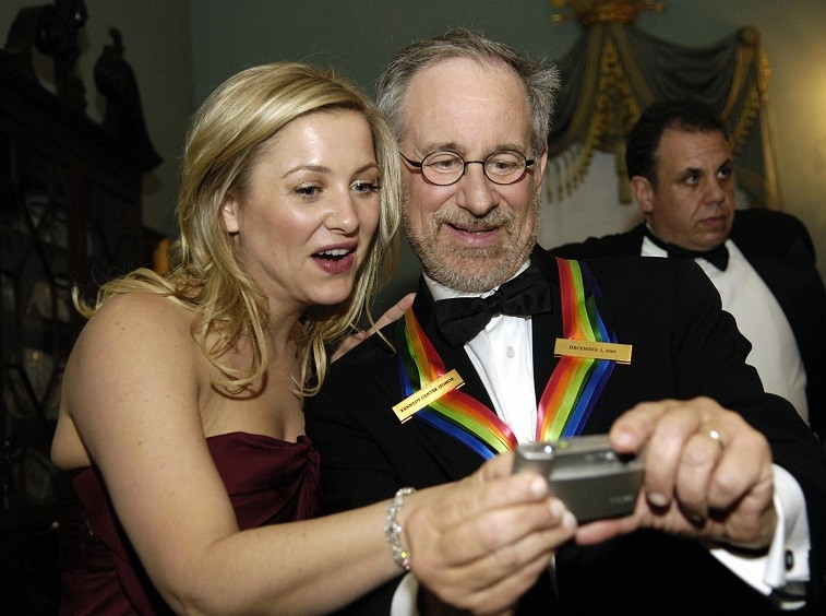 Jessica Capshaw and Steven Spielberg