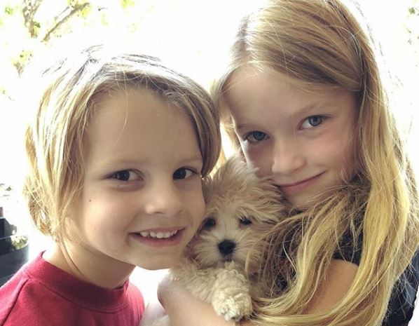 Jessica Simpson's kids and dog