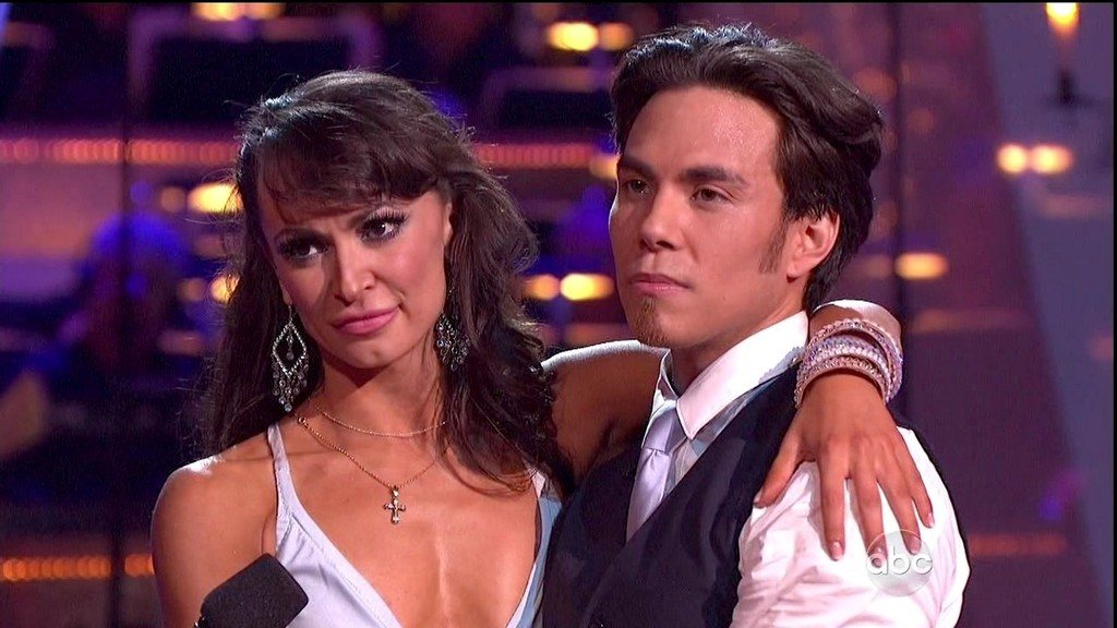 Karina Smirnoff and Apolo Ohno on Dancing with the Stars