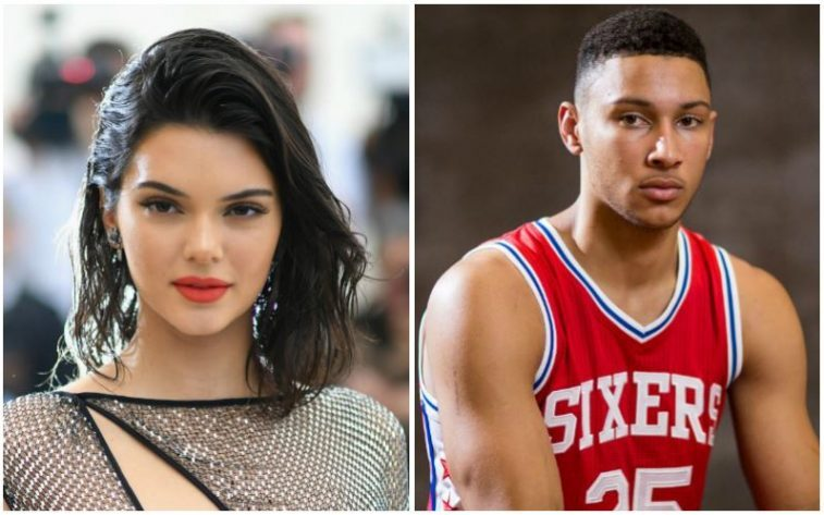 Kendall Jenner and Ben Simmons composite