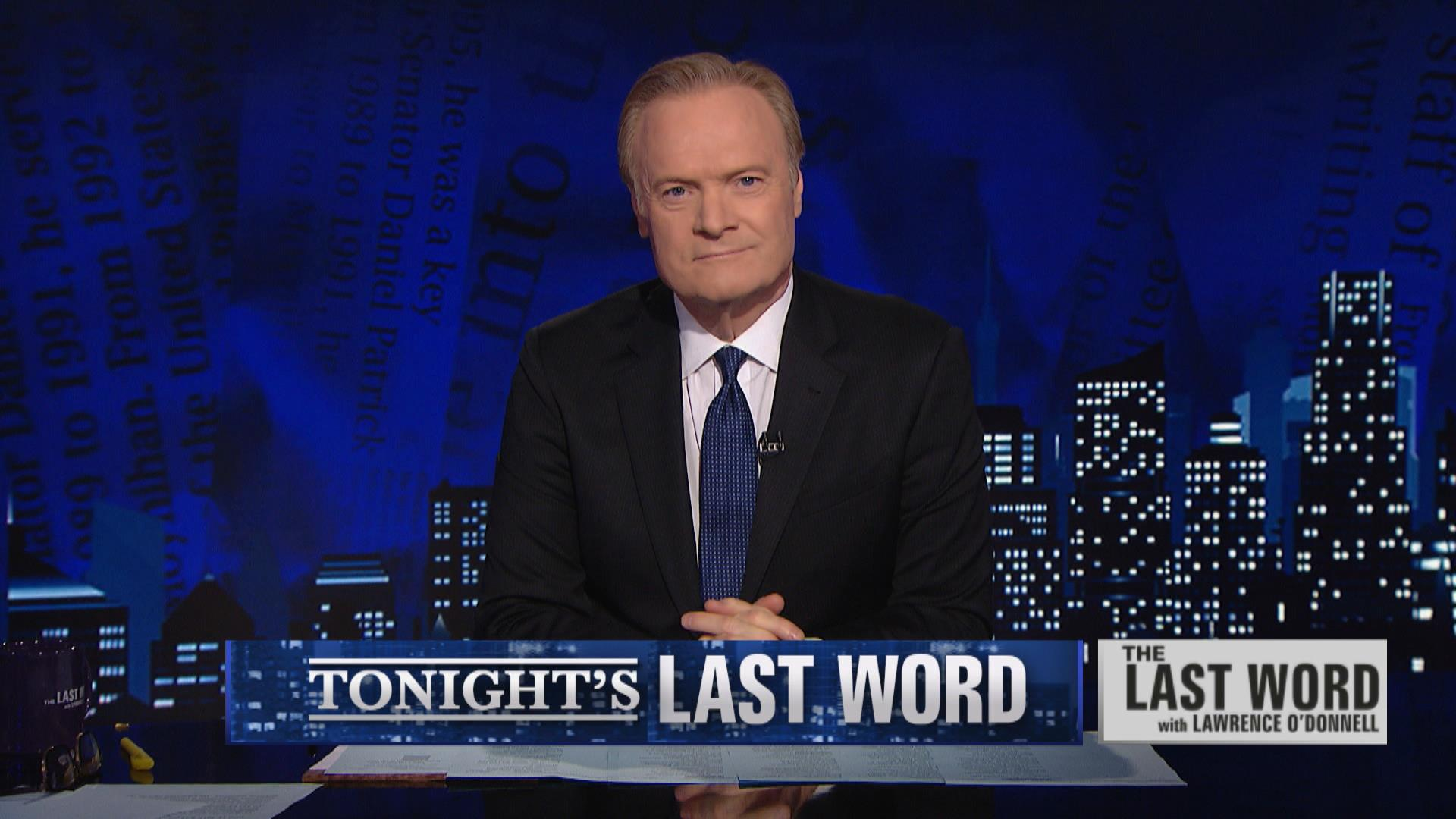 Lawrence O'Donnell on Last Word on MSNBC