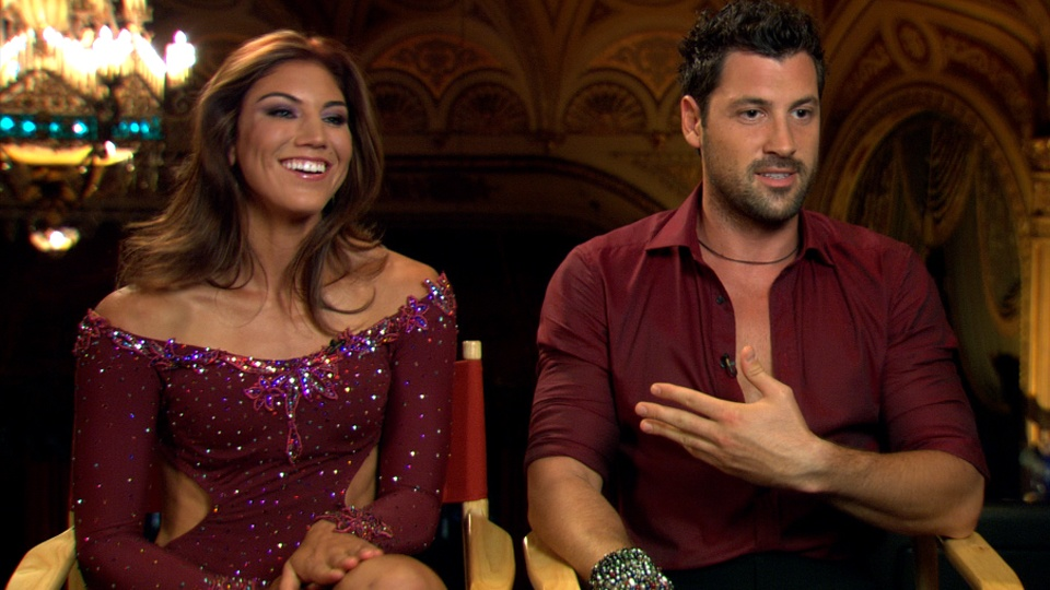Hope Solo and Maksim Chmerkovskiy on Dancing with the Stars