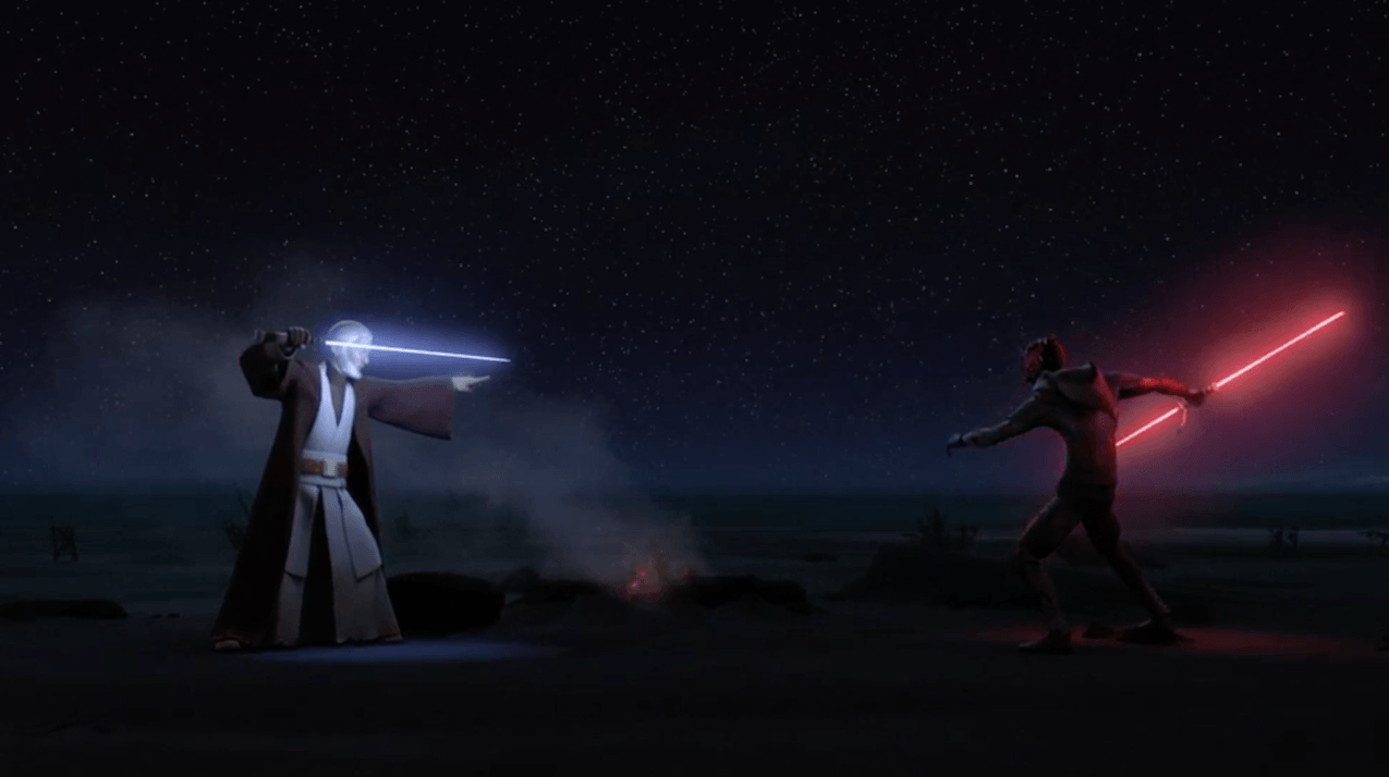 Obi-Wan faces Darth Maul one last time