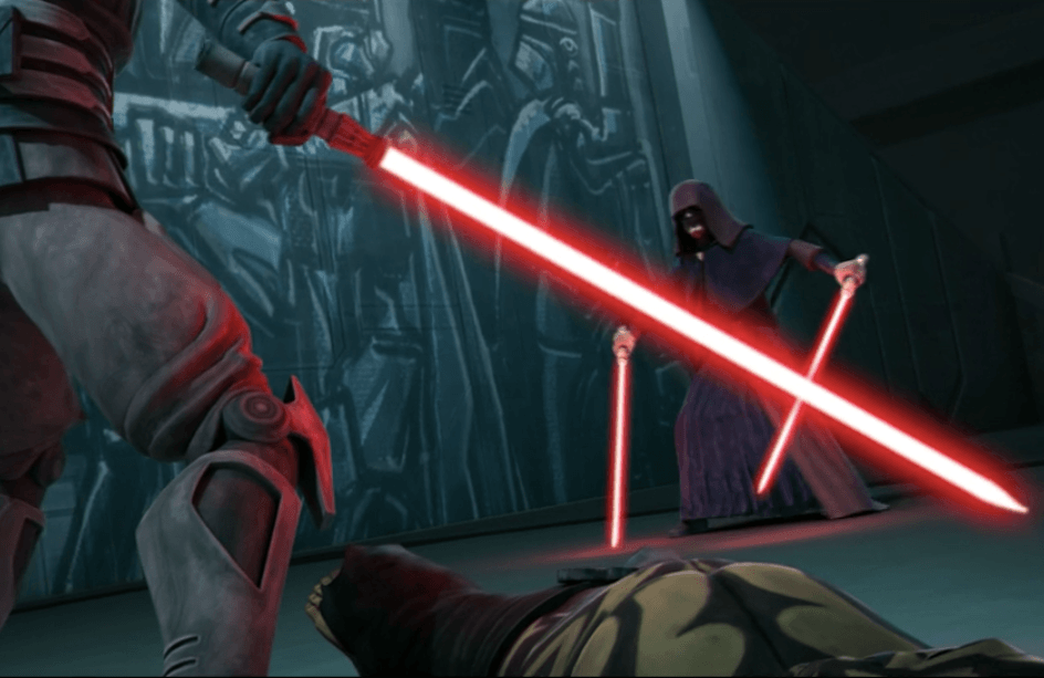 Maul fights Darth Sidious