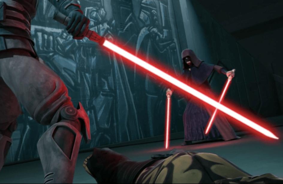Maul fights Darth Sidious