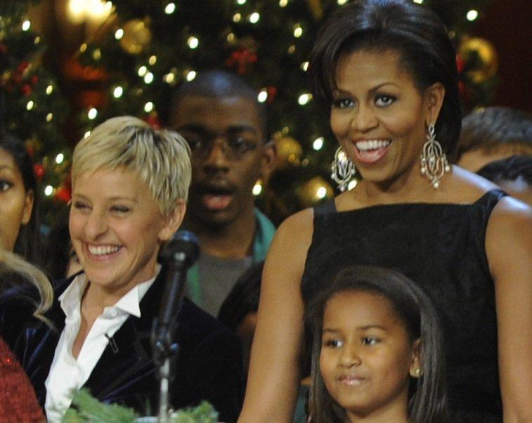 Ellen DeGeneres and Michelle Obama