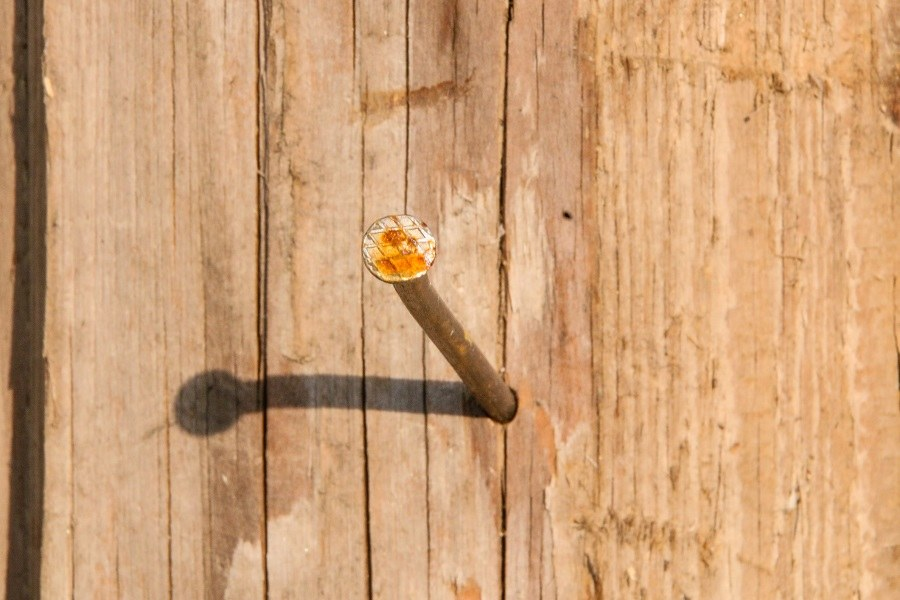 nail in wood