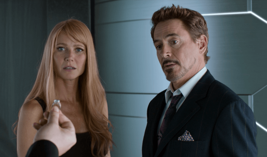 Pepper Potts and Tony Stark in Spider-Man: Homecoming