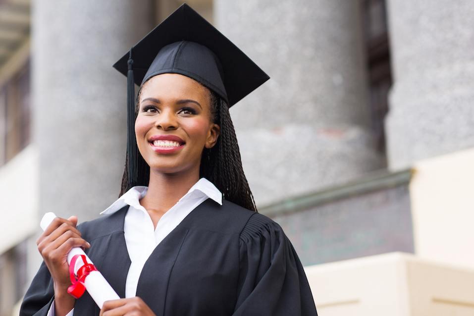 pretty african american female graduate