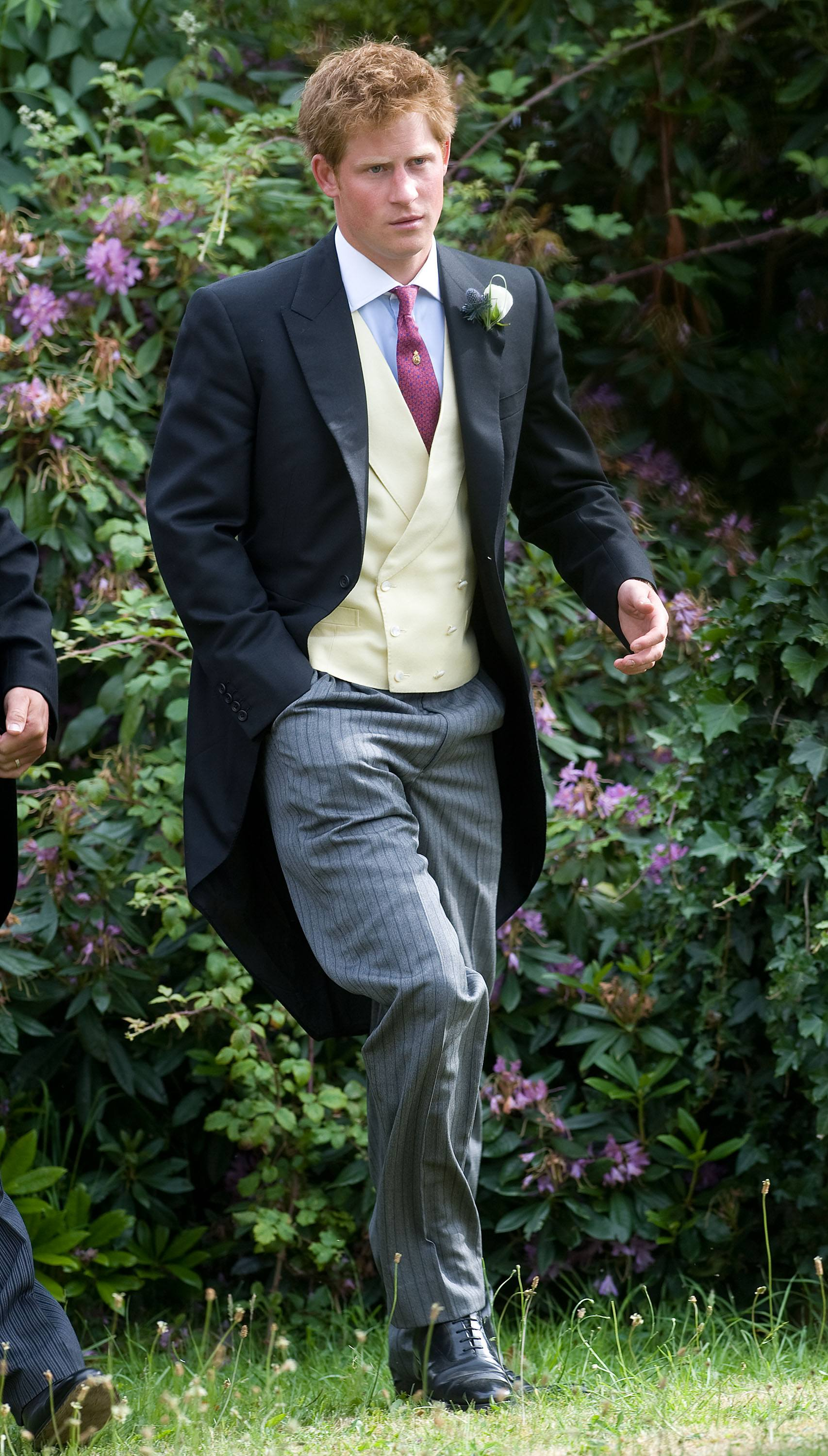 Prince Harry in 2010 at Mark Dyer And Amanda Kline's wedding