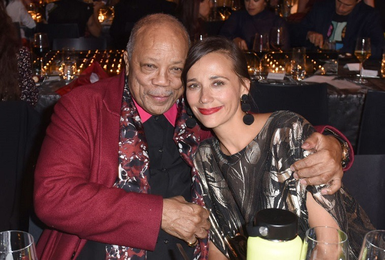 Quincy Jones and Rashida Jones