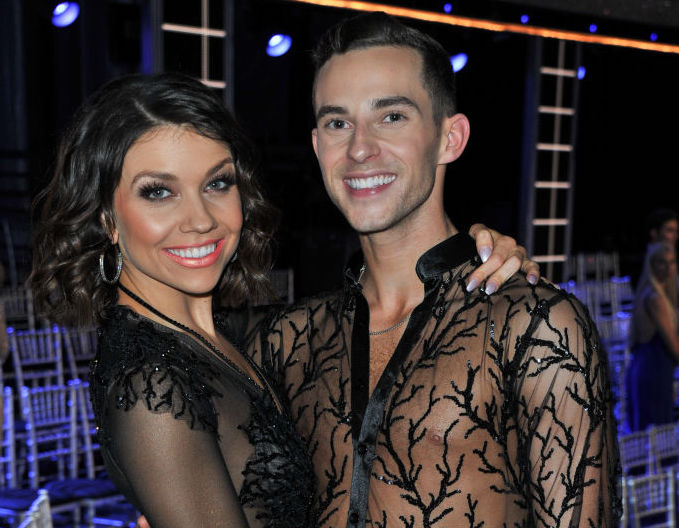 "Adam Rippon and Jenna Johnson attend ABC's ""Dancing With The Stars"