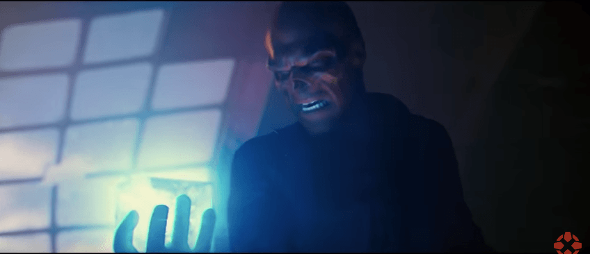 Red Skull from 'Captain America' holding the stone
