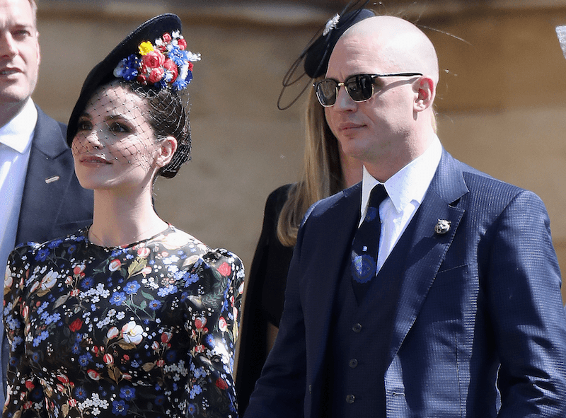 Tom Hardy and his date at the royal wedding
