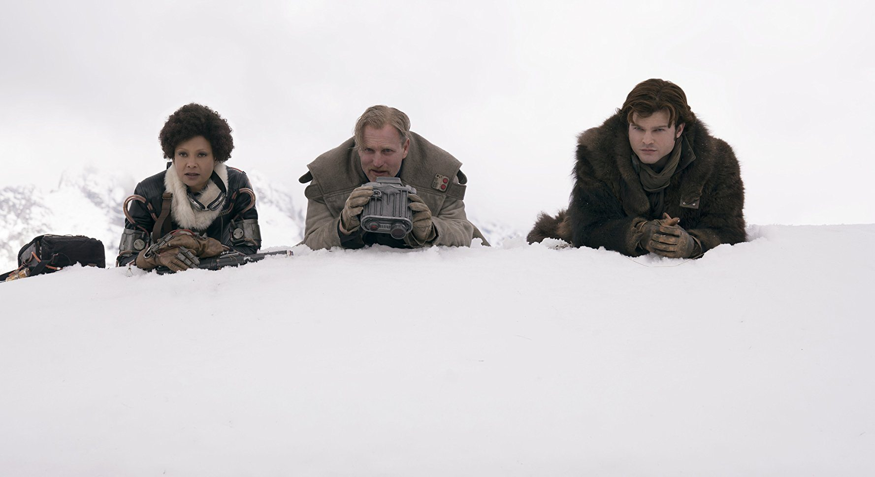 Val, Beckett, and Han in Solo: A Star Wars Story