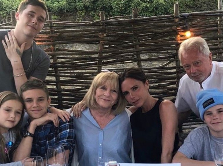 Victoria Beckham, kids, and in-laws