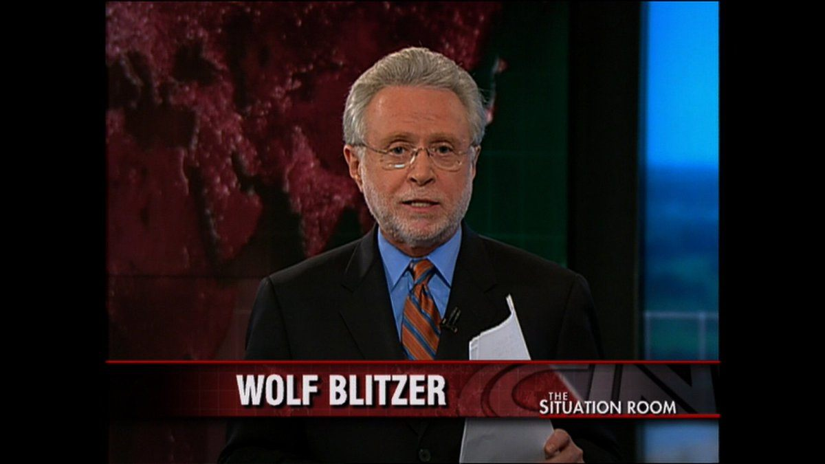 Wolf Blitzer on The Situation Room on CNN