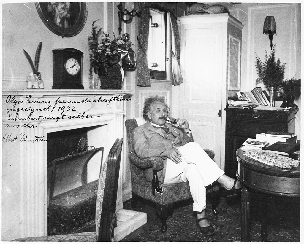 Portrait of physicist Albert Einstein