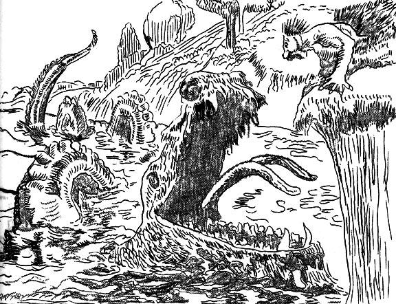 Alkali lake monster