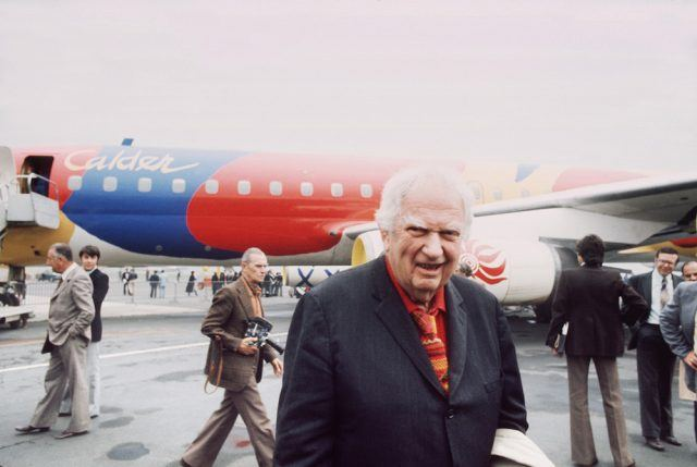 American artist Alexander Calder once painted a Braniff International jetliner