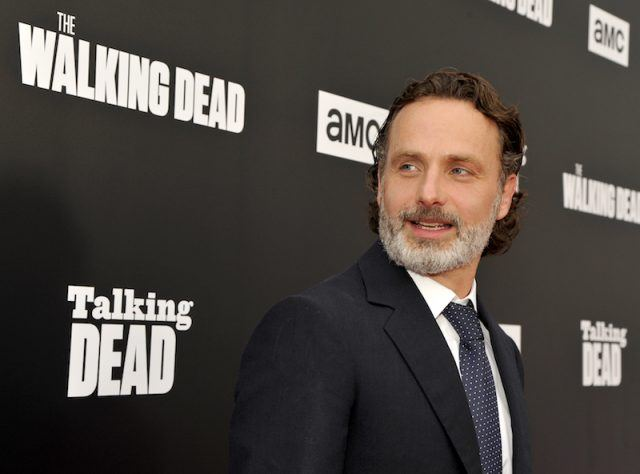 Andrew Lincoln posing on a red carpet.