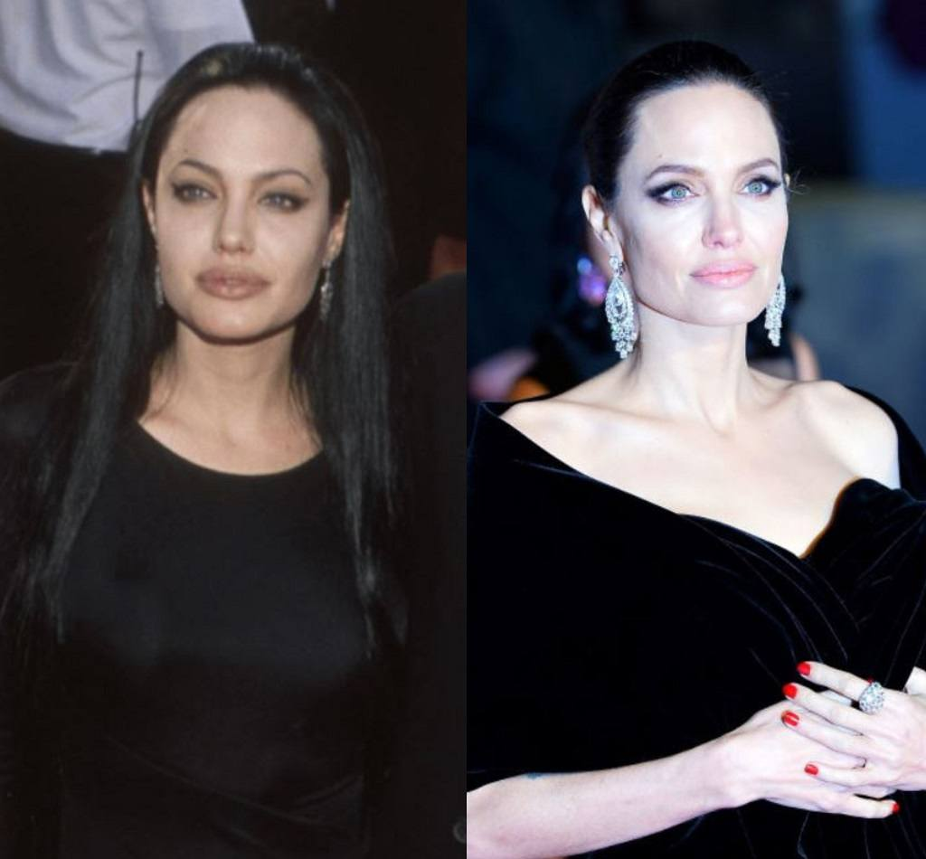 Angelina Jolie then and now