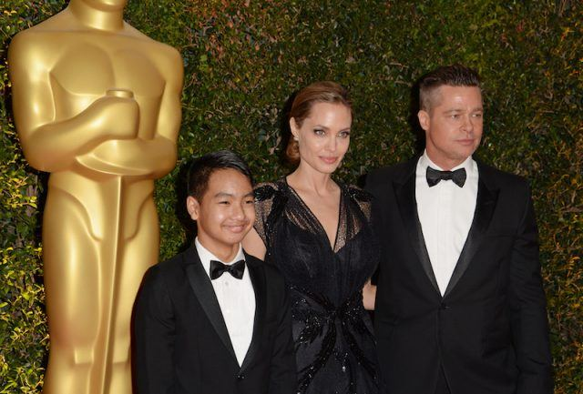 Angelina Jolie, Brad Pitt and Maddox.