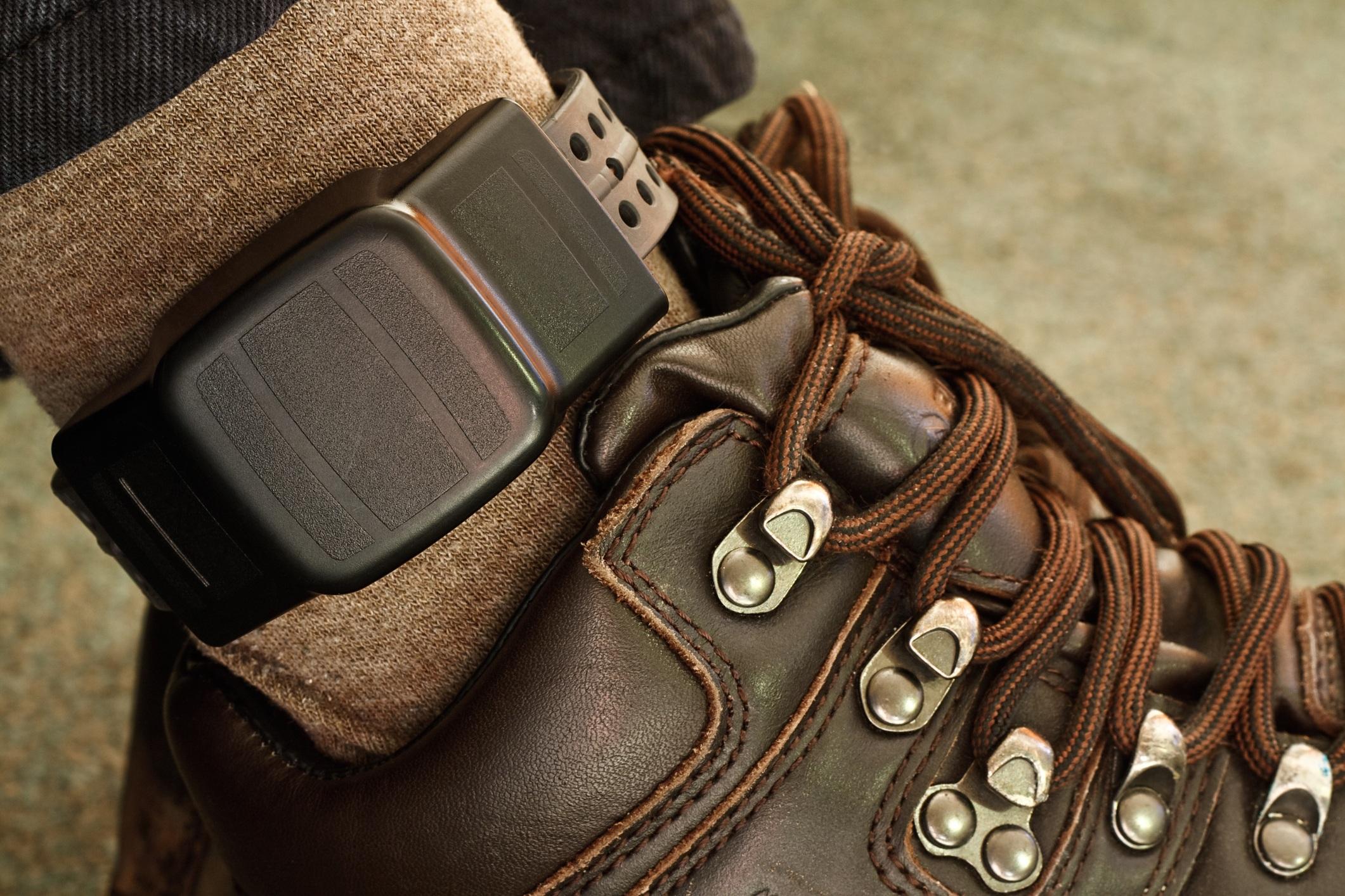 Electronic monitoring ankle bracelet