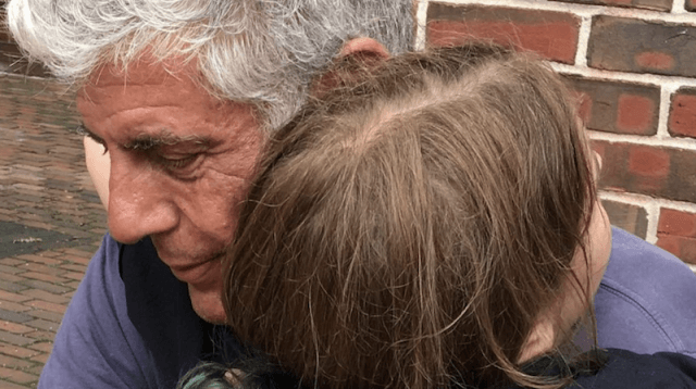 Anthony Bourdain and his daughter.