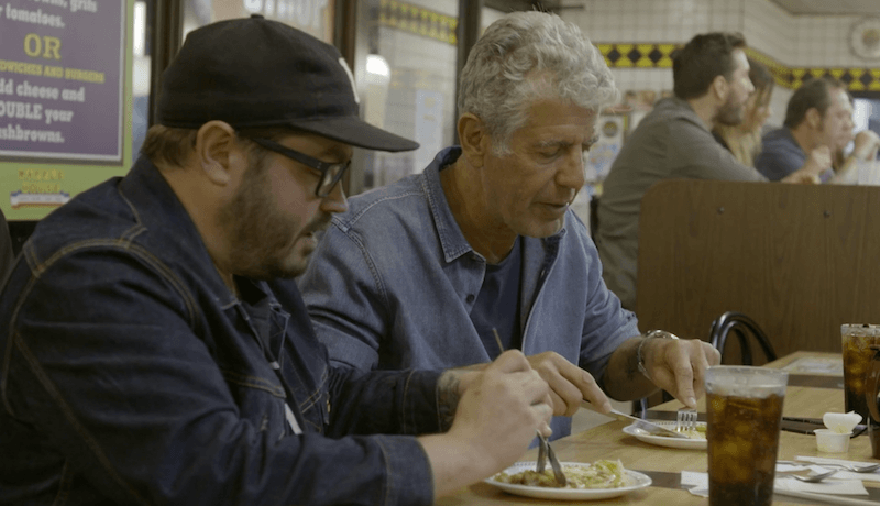 Anthony Bourdain at Waffle House.