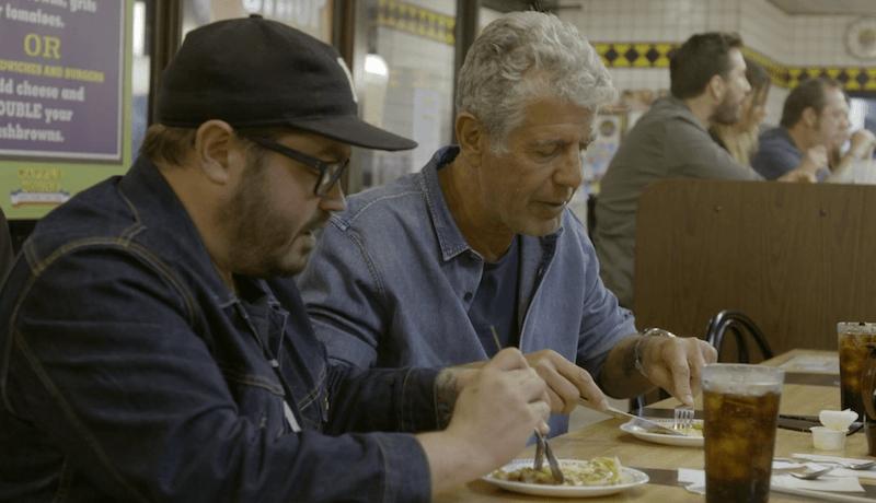 Anthony Bourdain at Waffle House.