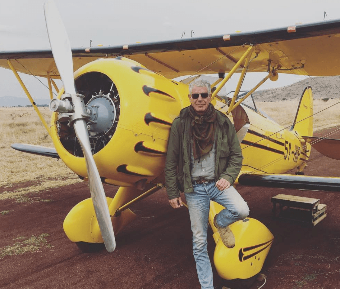 Anthony Bourdain airplane