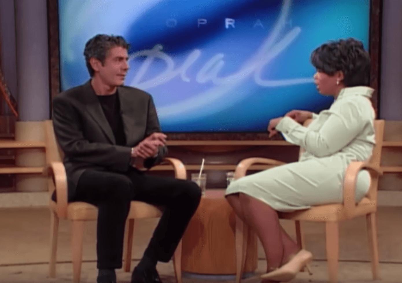 Anthony Bourdain and Oprah