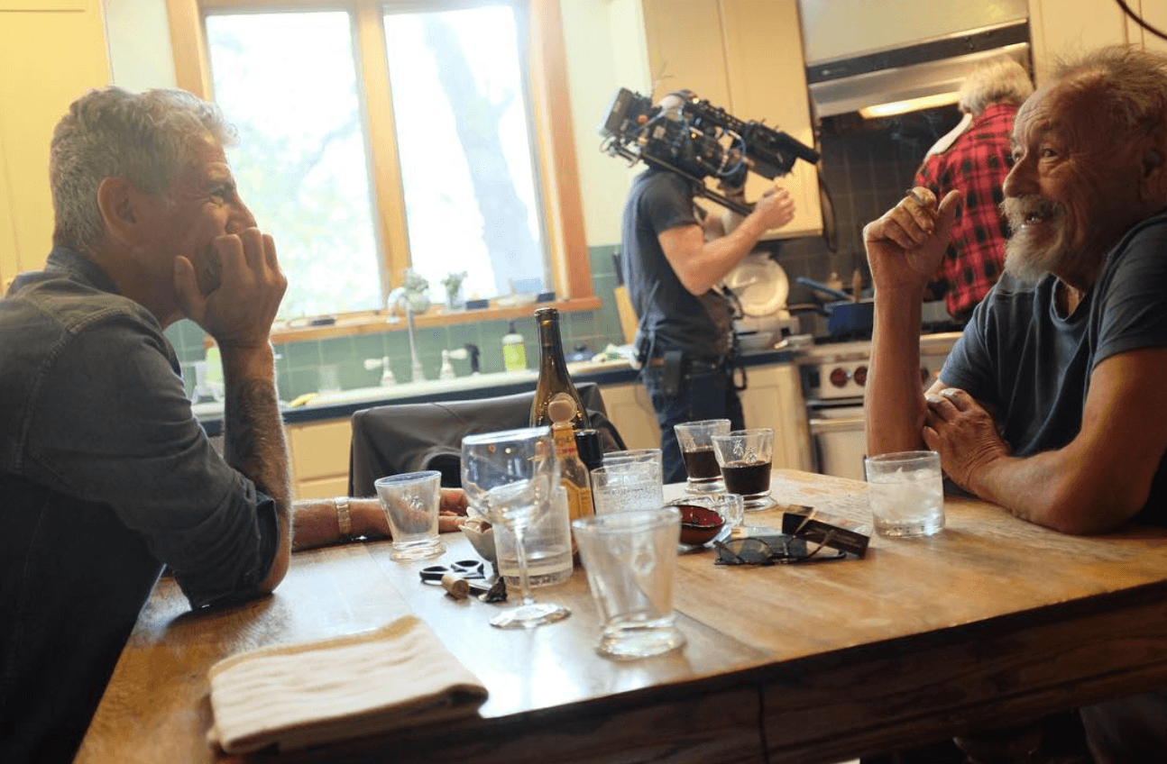 Anthony Bourdain filming