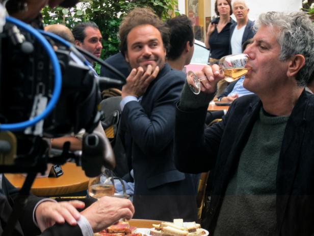 Anthony Bourdain films in Paris