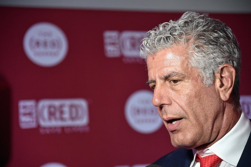 The (RED) Supper hosted by Mario Batali with Anthony Bourdain