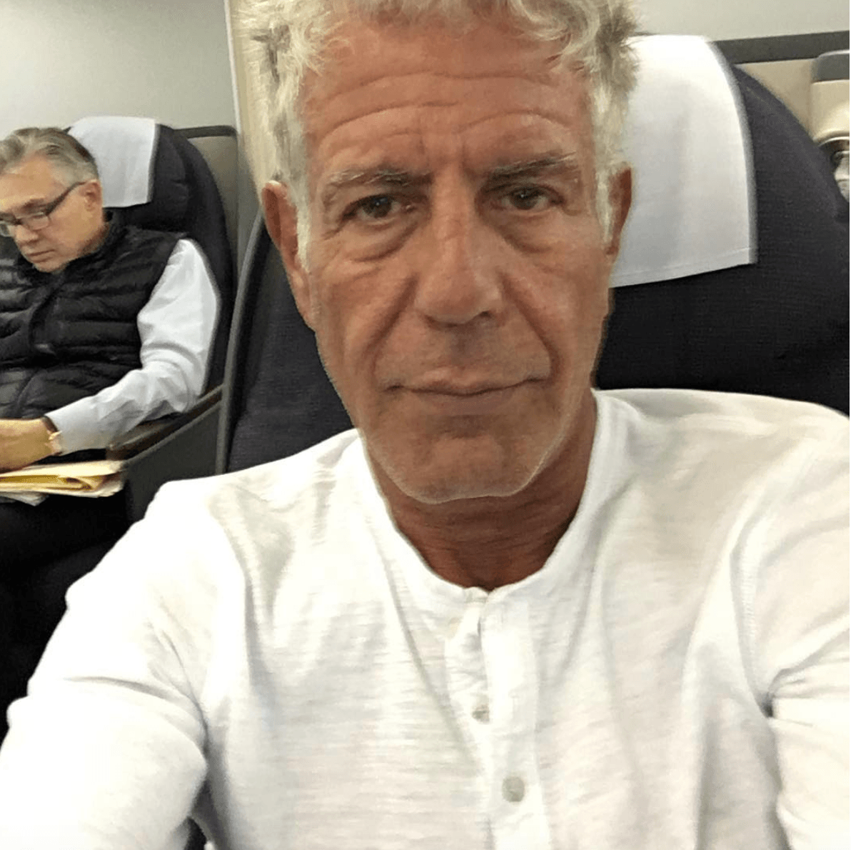 Anthony Bourdain plane