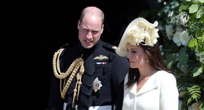 Britain's Prince William, Duke of Cambridge and Britain's Catherine,