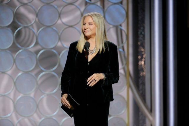 Barbra Streisand at the 75th Annual Golden Globe Awards