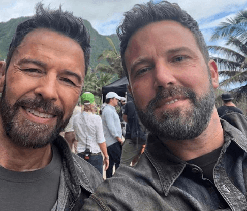 Ben Affleck and his stunt double Rich Cetrone