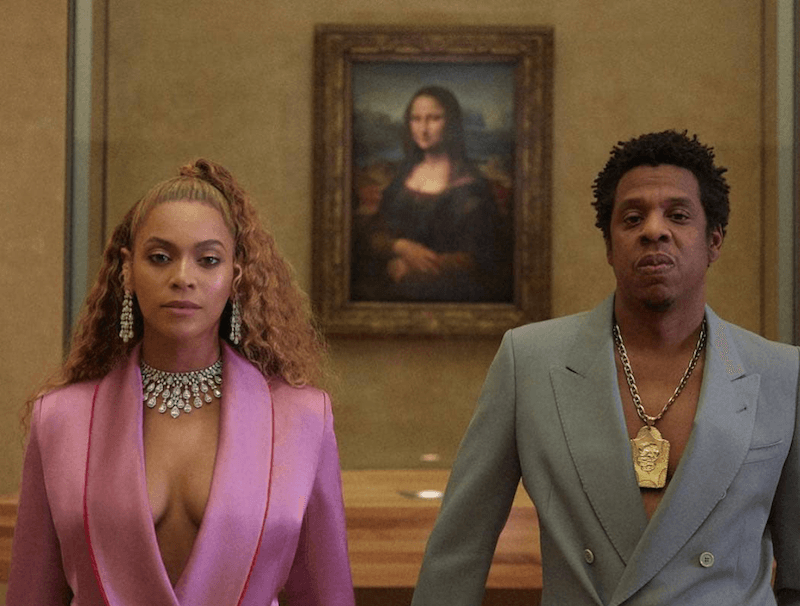 Beyonce and Jay Z in music video