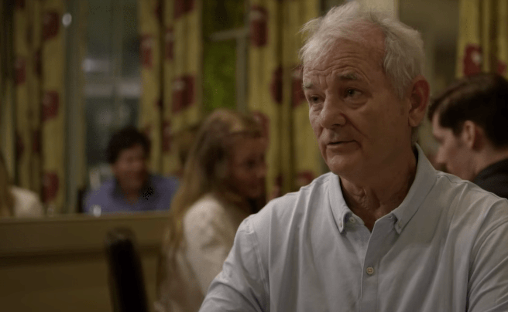 Bill Murray eats with Anthony Bourdain in Charleston.