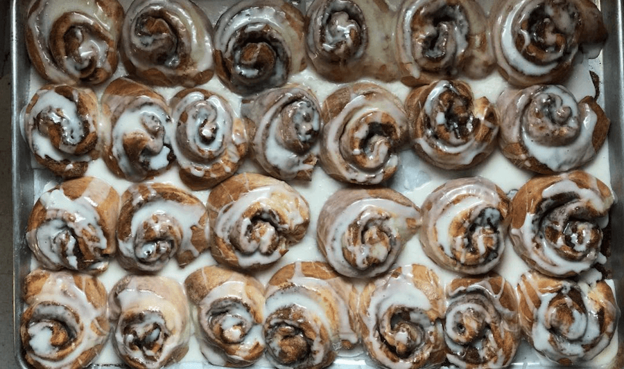 Cinnamon buns from Boyce General Store