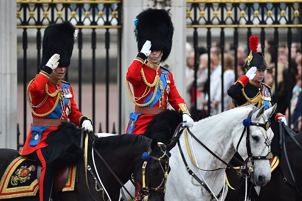 Britain's Prince Charles, Prince of Wales (L), Prince William, Duke of Cambridge
