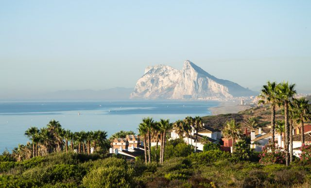 British Overseas Territory of Gibraltar, with Rock of Gibraltar