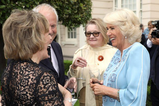 Camilla Parker Bowles at her garden birthday party.
